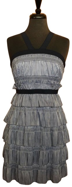 Item - Navy White Past 60 Short Casual Dress Size 4 (S)