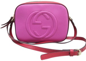 dd9b8187580 Gucci Soho Disco Fuchsia Calfskin Leather Cross Body Bag - Tradesy