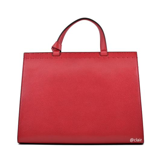 Gucci Leather Satchel in Vulcanic Red Image 2