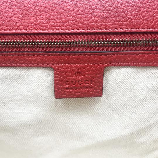 Gucci Leather Satchel in Vulcanic Red Image 6