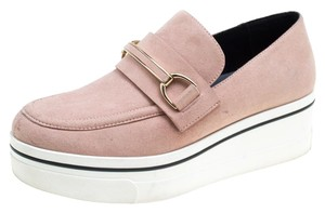 Stella McCartney Faux Suede Faux Leather Pink Flats