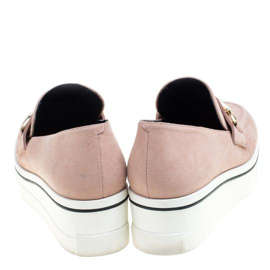 Stella McCartney Faux Suede Faux Leather Pink Flats Image 1