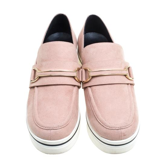 Stella McCartney Faux Suede Faux Leather Pink Flats Image 2
