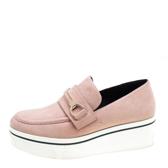 Stella McCartney Faux Suede Faux Leather Pink Flats Image 3