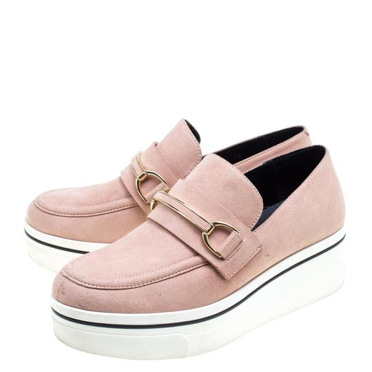 Stella McCartney Faux Suede Faux Leather Pink Flats Image 4