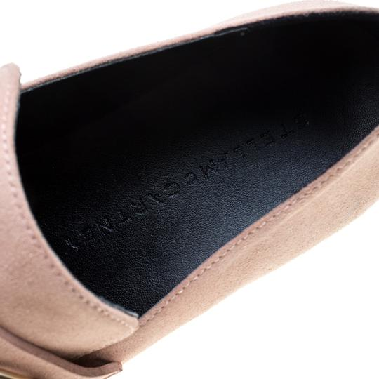Stella McCartney Faux Suede Faux Leather Pink Flats Image 6