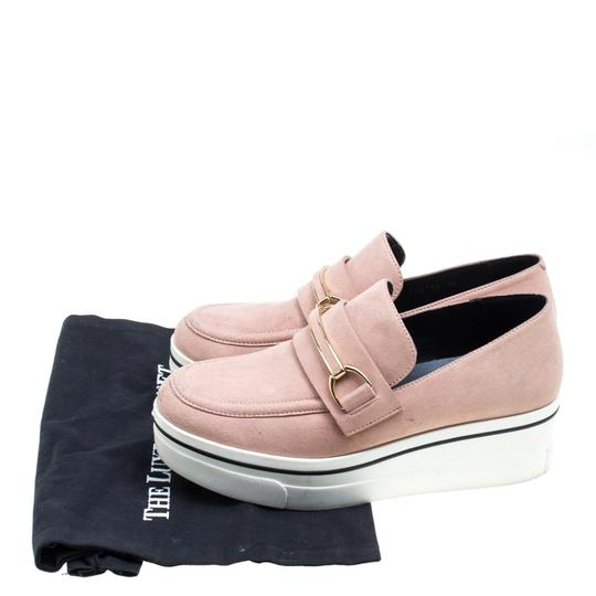 Stella McCartney Faux Suede Faux Leather Pink Flats Image 7