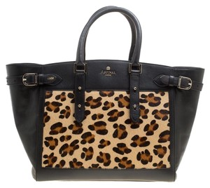 Aspinal of London Leather Tote in Black