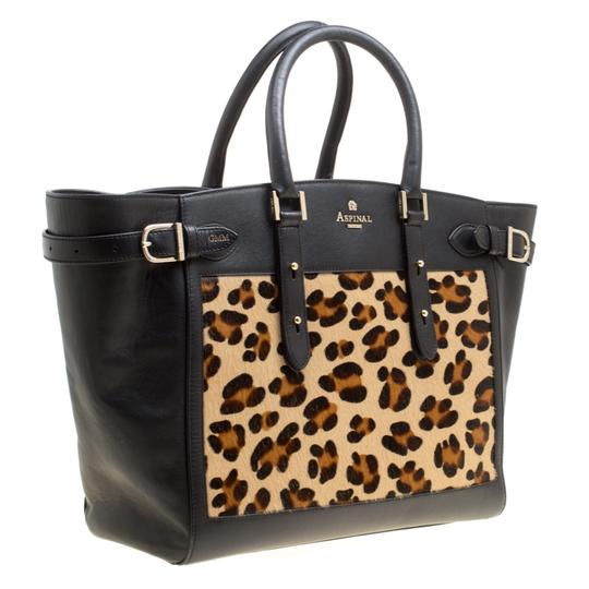 Aspinal of London Leather Tote in Black Image 3