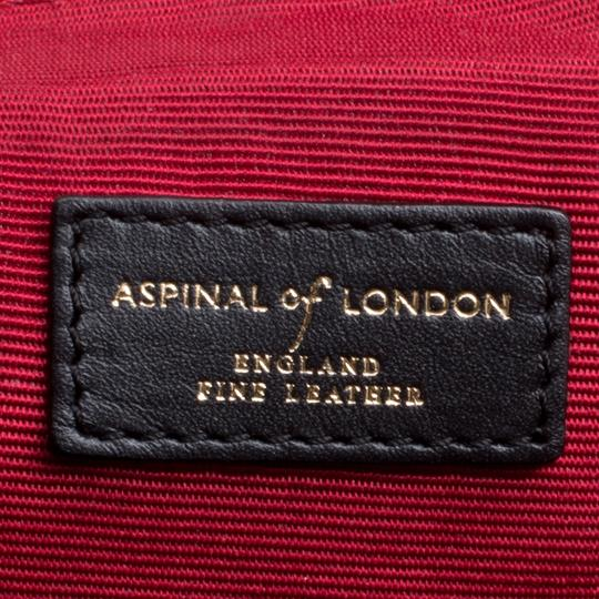 Aspinal of London Leather Tote in Black Image 9