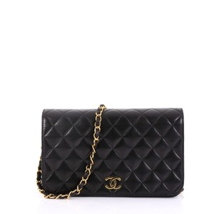 c45e758f4232 Chanel Leather Shoulder Bag · Chanel. Classic Flap Vintage Full Quilted  Small Black Lambskin ...