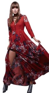 burn red Maxi Dress by Free People