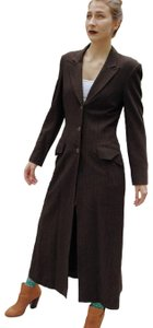 DKNY Duster Vintage Pinstripe Trench Coat