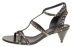 Burberry Leather Studded Black Sandals