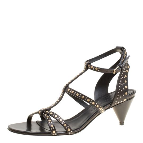 Burberry Leather Studded Black Sandals Image 1