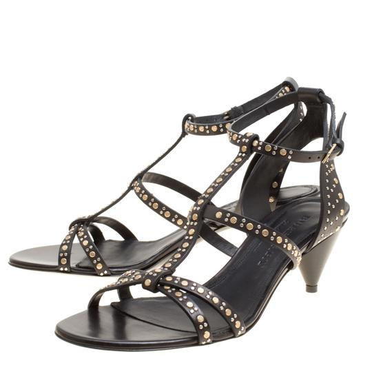 Burberry Leather Studded Black Sandals Image 2