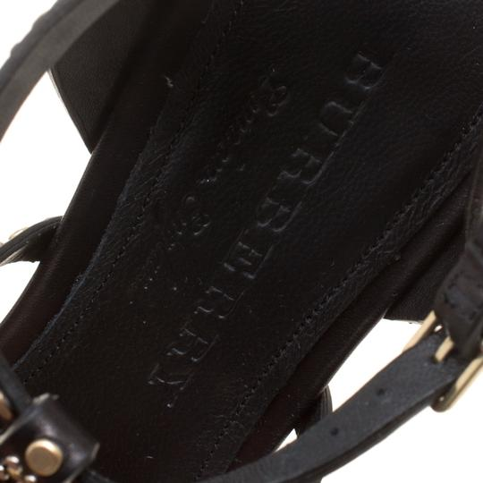 Burberry Leather Studded Black Sandals Image 6