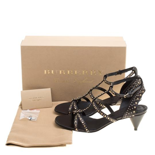 Burberry Leather Studded Black Sandals Image 7