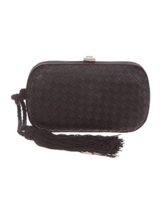 Bottega Veneta Intrecciato Clutch Wristlet in Black