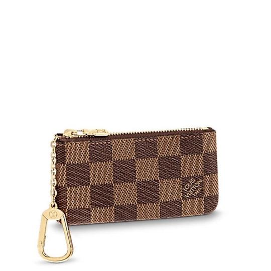 9f5c11443db9 Louis Vuitton Brown New Damier Key and Credit Card Pouch Cles Wallet ...