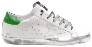 Golden Goose Deluxe Brand G34ws590.m54 White Sparkle Green-GGDB Lace Athletic