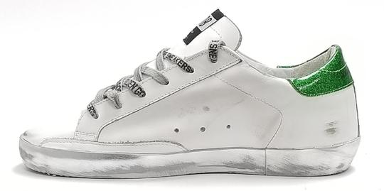 Golden Goose Deluxe Brand G34ws590.m54 White Sparkle Green-GGDB Lace Athletic Image 1