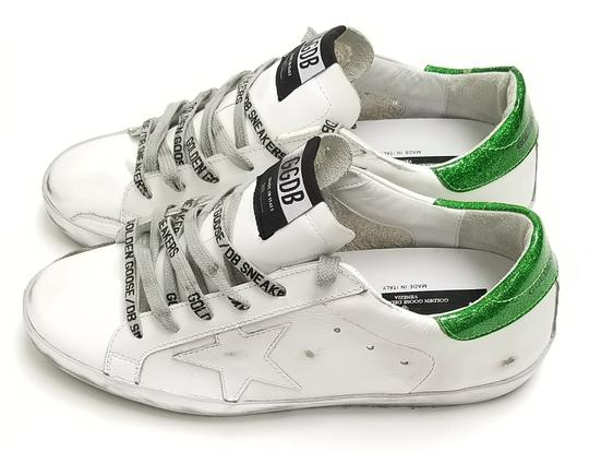 Golden Goose Deluxe Brand G34ws590.m54 White Sparkle Green-GGDB Lace Athletic Image 2