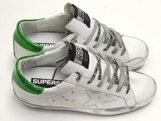 Golden Goose Deluxe Brand G34ws590.m54 White Sparkle Green-GGDB Lace Athletic Image 3