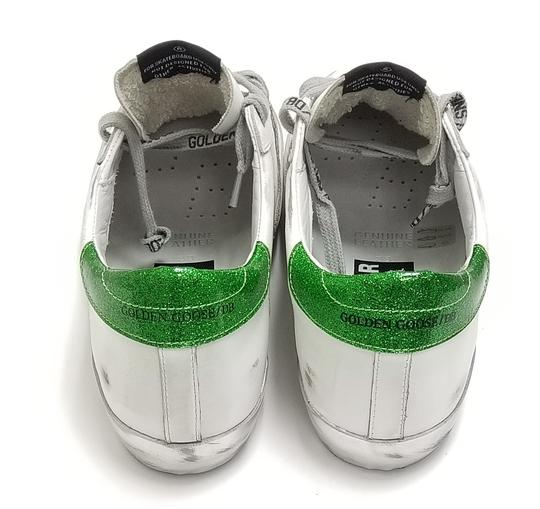 Golden Goose Deluxe Brand G34ws590.m54 White Sparkle Green-GGDB Lace Athletic Image 5