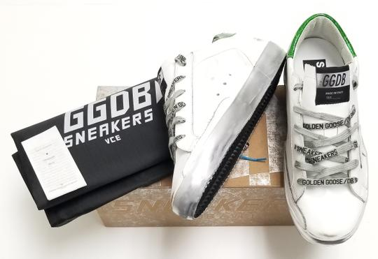 Golden Goose Deluxe Brand G34ws590.m54 White Sparkle Green-GGDB Lace Athletic Image 6