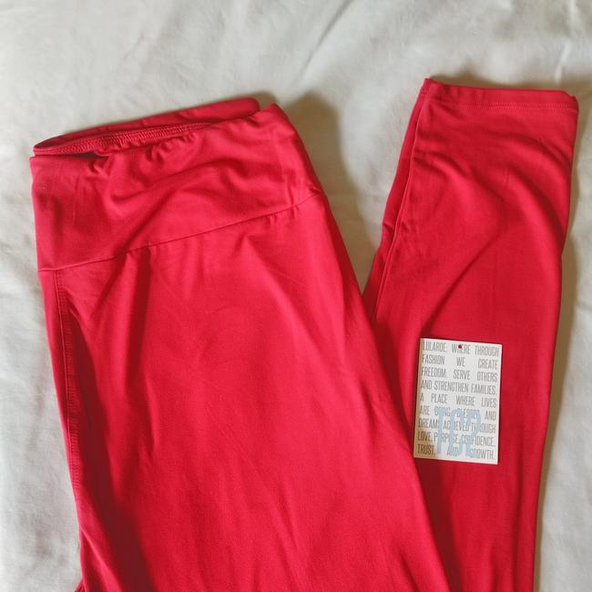 Lularoe Red Solid Color Leggings Size 16 Xl Plus 0x Tradesy