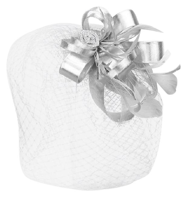 Item - Silver New Dress Formal Dressy Feather Hat