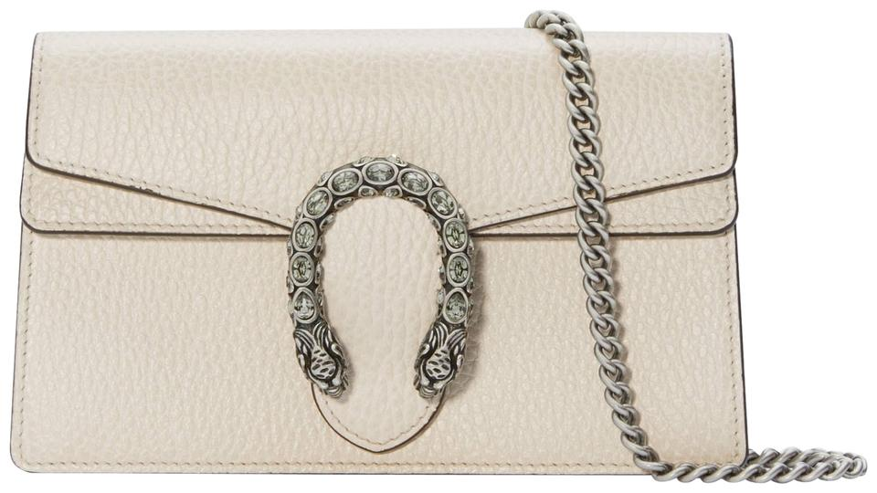 c5fe945ab4a Gucci Dionysus White Super Mini Leather and Velvet Cross Body Bag ...