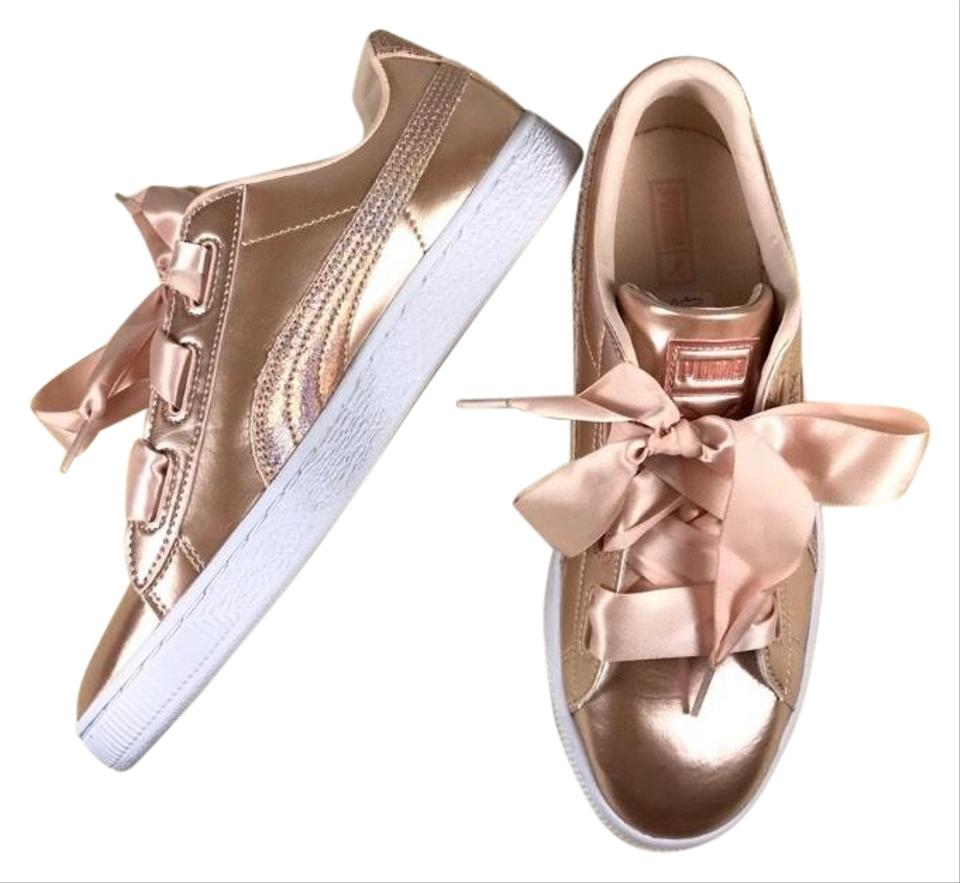 700d93b4c1a Puma Rose Gold Basket Copper Bow Sneakers Sneakers Size US 9 Regular ...