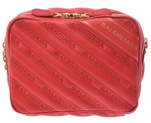 Balenciaga Leather Calfskin Embroidered Quilted Classic Cross Body Bag