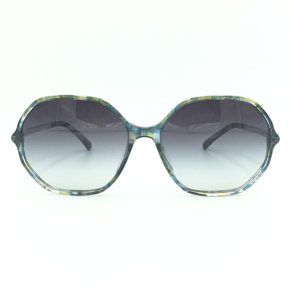 a621a2534be9 Chanel Green Multi-Colored Oval Sunglasses 5345 1522 S6 Image 0 ...