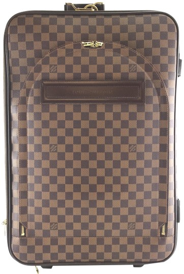 Louis Vuitton  28328 with Garment Pegase 55 Roller Luggage Suitcase Carry  On Damier Ebene Coated Canvas Weekend Travel Bag 2e29cd007ab6c