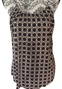 Banana Republic Top black and cream colored pattern