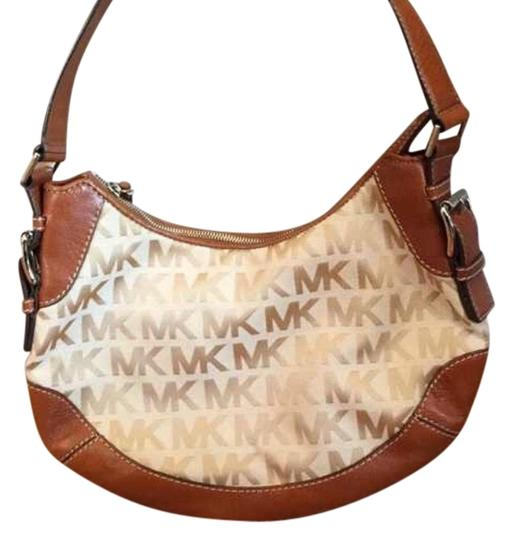 Preload https://item5.tradesy.com/images/michael-kors-tan-and-brown-shoulder-bag-2507089-0-0.jpg?width=440&height=440