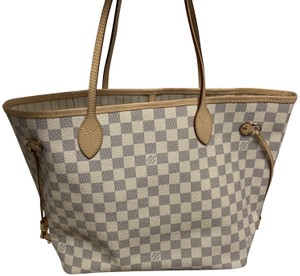 Louis Vuitton Neverfull Mm Damier Tote in Azur