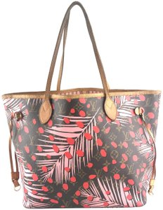 Louis Vuitton Jungle Dots Palm Springs Limited Edition Neverfull Sugar Pink Poppy Shoulder Bag
