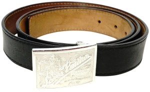 Louis Vuitton Travelling Requisites Calf Leather Black Brown Women or Men's Belt
