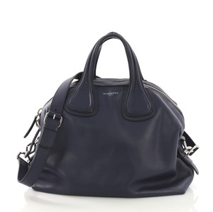 Givenchy Leather Satchel in navy blue
