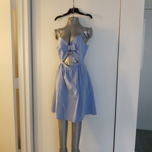 Paper Crown short dress blue on Tradesy