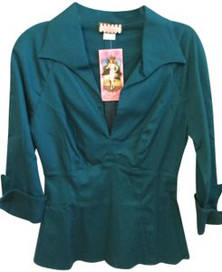 Pinup Couture Top Teal