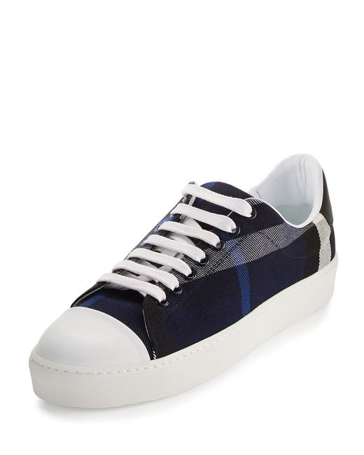 Item - Indigo Westford Check Low-top Sneakers Size EU 40 (Approx. US 10) Regular (M, B)