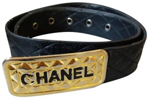Chanel Authentic Chanel Vintage Lambskin Leather Belt Quilted France