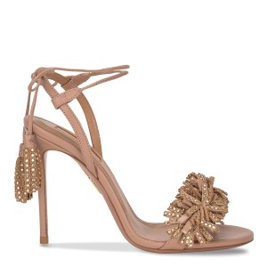 Aquazzura Heels Tan Sandals