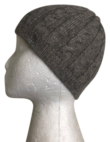 Preload https://img-static.tradesy.com/item/25071915/lauren-ralph-lauren-gray-and-silver-sparkle-cable-knit-hat-0-1-540-540.jpg
