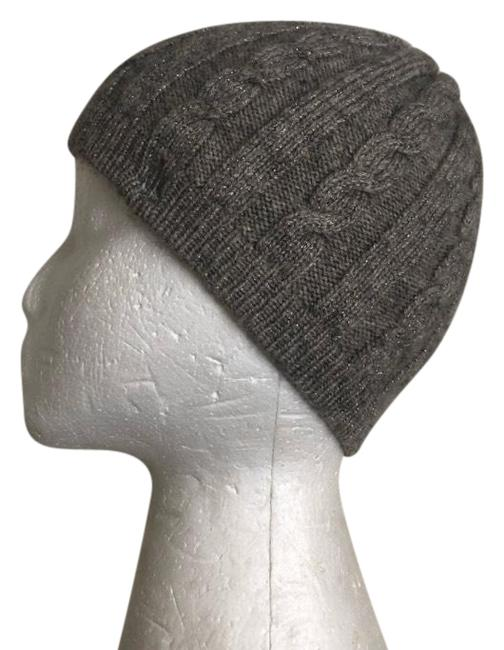 Item - Gray and Silver Sparkle Cable Knit Hat